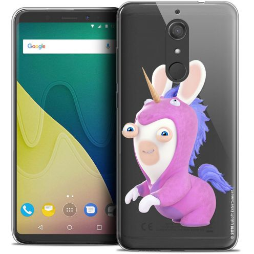 """Crystal Gel Wiko View XL (5.99"""") Case Lapins Crétins™ Licorne"""