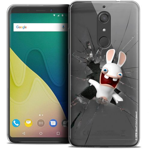 """Crystal Gel Wiko View XL (5.99"""") Case Lapins Crétins™ Breaking Glass"""