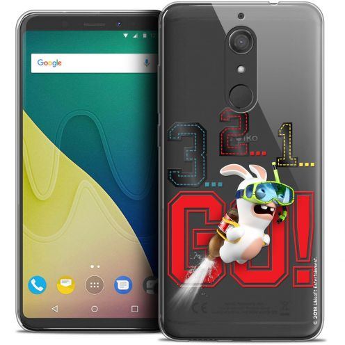 """Crystal Gel Wiko View XL (5.99"""") Case Lapins Crétins™ 321 Go !"""