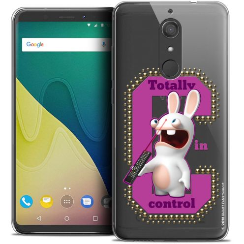 """Crystal Gel Wiko View XL (5.99"""") Case Lapins Crétins™ In Control !"""