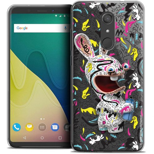"""Crystal Gel Wiko View XL (5.99"""") Case Lapins Crétins™ Tag"""
