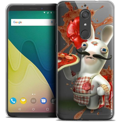 """Crystal Gel Wiko View XL (5.99"""") Case Lapins Crétins™ Cuisinier"""