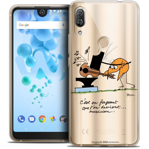 """Extra Slim Crystal Gel Wiko View 2 PRO (6.0"""") Case Les Shadoks® Musicien"""