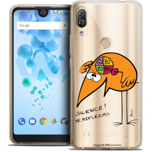 """Extra Slim Crystal Gel Wiko View 2 PRO (6.0"""") Case Les Shadoks® Silence !"""