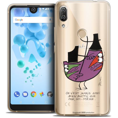 """Extra Slim Crystal Gel Wiko View 2 PRO (6.0"""") Case Les Shadoks® Soi-Même"""