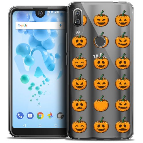 """Extra Slim Crystal Gel Wiko View 2 PRO (6.0"""") Case Halloween Smiley Citrouille"""