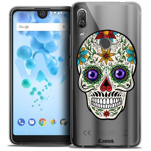 "Extra Slim Crystal Gel Wiko View 2 PRO (6.0"") Case Skull Maria's Flower"