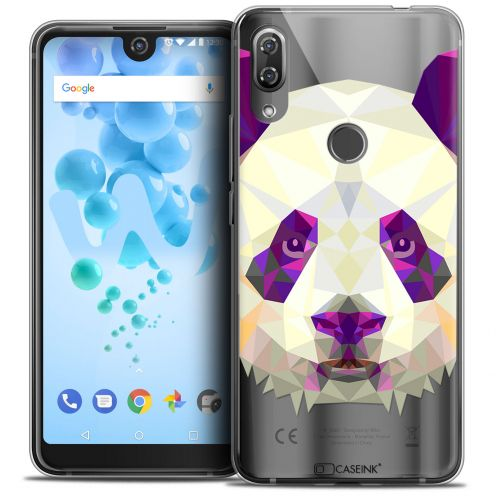 "Extra Slim Crystal Gel Wiko View 2 PRO (6.0"") Case Polygon Animals Panda"