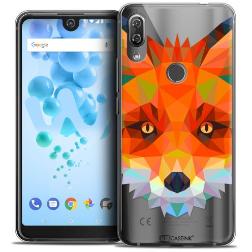 "Extra Slim Crystal Gel Wiko View 2 PRO (6.0"") Case Polygon Animals Fox"