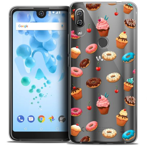 "Extra Slim Crystal Gel Wiko View 2 PRO (6.0"") Case Foodie Donuts"