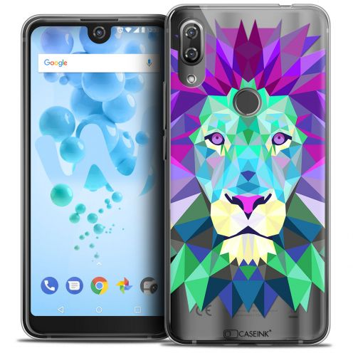 "Extra Slim Crystal Gel Wiko View 2 PRO (6.0"") Case Polygon Animals Lion"