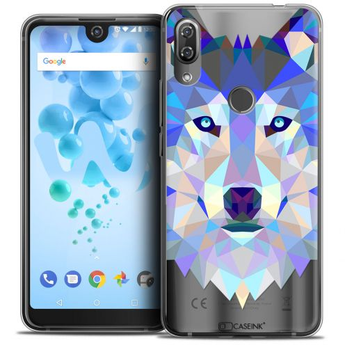 "Extra Slim Crystal Gel Wiko View 2 PRO (6.0"") Case Polygon Animals Wolf"