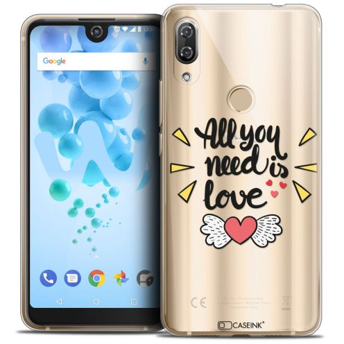 "Extra Slim Crystal Gel Wiko View 2 PRO (6.0"") Case Love All U Need Is"