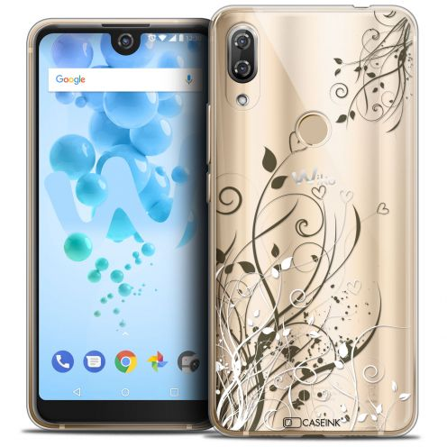 """Extra Slim Crystal Gel Wiko View 2 PRO (6.0"""") Case Love Hearts Flowers"""