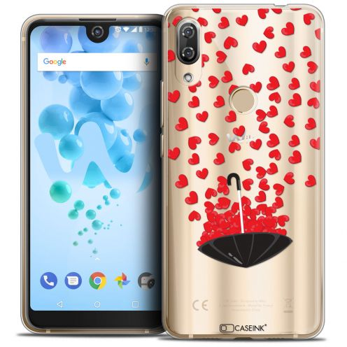 "Extra Slim Crystal Gel Wiko View 2 PRO (6.0"") Case Love Parapluie d'Amour"