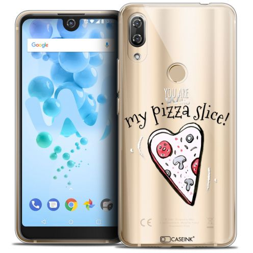 "Extra Slim Crystal Gel Wiko View 2 PRO (6.0"") Case Love My Pizza Slice"