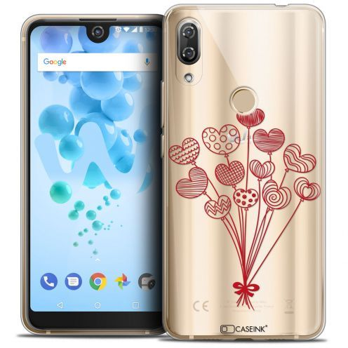 "Extra Slim Crystal Gel Wiko View 2 PRO (6.0"") Case Love Ballons d'amour"