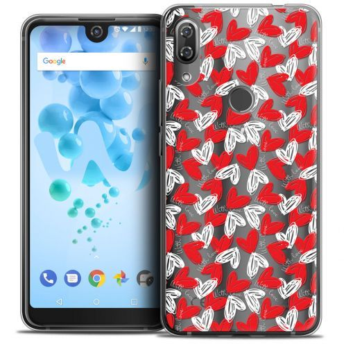 "Extra Slim Crystal Gel Wiko View 2 PRO (6.0"") Case Love With Love"