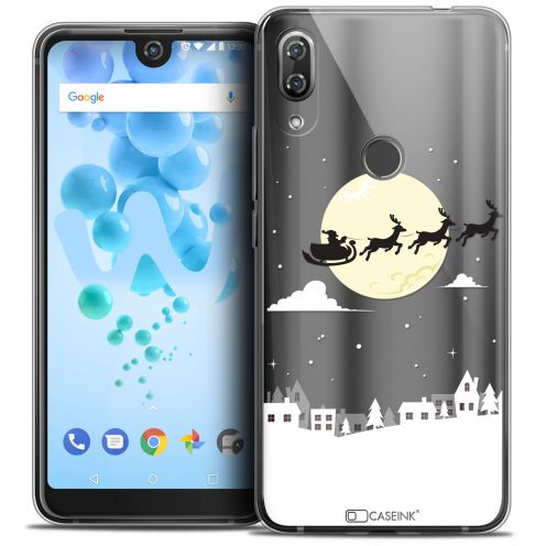 "Extra Slim Crystal Gel Wiko View 2 PRO (6.0"") Case Noël 2017 Flying Stanta"