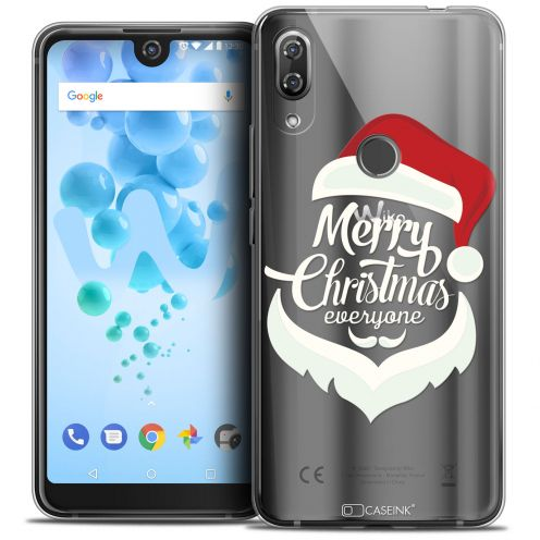 "Extra Slim Crystal Gel Wiko View 2 PRO (6.0"") Case Noël 2017 Merry Everyone"