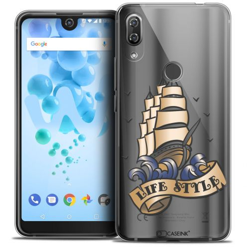 """Extra Slim Crystal Gel Wiko View 2 PRO (6.0"""") Case Tatoo Lover Life Style"""