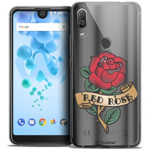 "Extra Slim Crystal Gel Wiko View 2 PRO (6.0"") Case Tatoo Lover Red Rose"