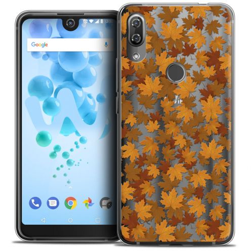 "Extra Slim Crystal Gel Wiko View 2 PRO (6.0"") Case Autumn 16 Feuilles"
