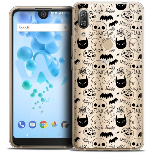 "Extra Slim Crystal Gel Wiko View 2 PRO (6.0"") Case Halloween Spooky"