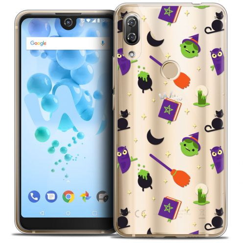 "Extra Slim Crystal Gel Wiko View 2 PRO (6.0"") Case Halloween Witch Potter"