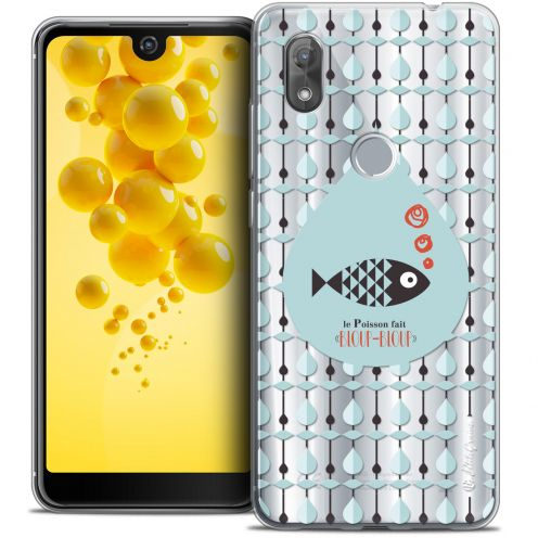 "Extra Slim Crystal Gel Wiko View 2 (6.0"") Case Petits Grains® Le Poisson"