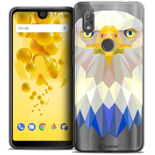 "Extra Slim Crystal Gel Wiko View 2 (6.0"") Case Polygon Animals Eagle"