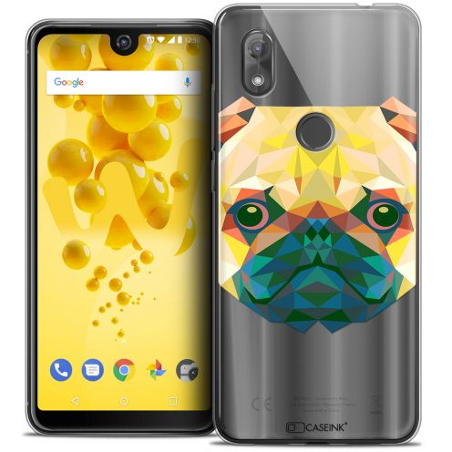 "Extra Slim Crystal Gel Wiko View 2 (6.0"") Case Polygon Animals Dog"