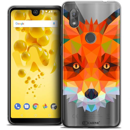 "Extra Slim Crystal Gel Wiko View 2 (6.0"") Case Polygon Animals Fox"