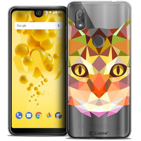 "Extra Slim Crystal Gel Wiko View 2 (6.0"") Case Polygon Animals Cat"