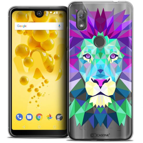 "Extra Slim Crystal Gel Wiko View 2 (6.0"") Case Polygon Animals Lion"
