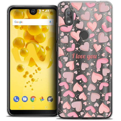 """Extra Slim Crystal Gel Wiko View 2 (6.0"""") Case Love I Love You"""