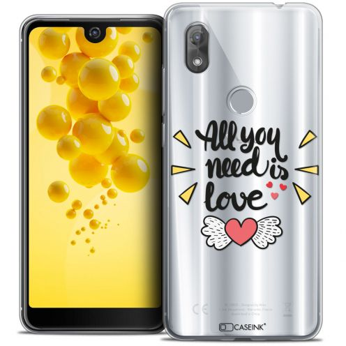 "Extra Slim Crystal Gel Wiko View 2 (6.0"") Case Love All U Need Is"
