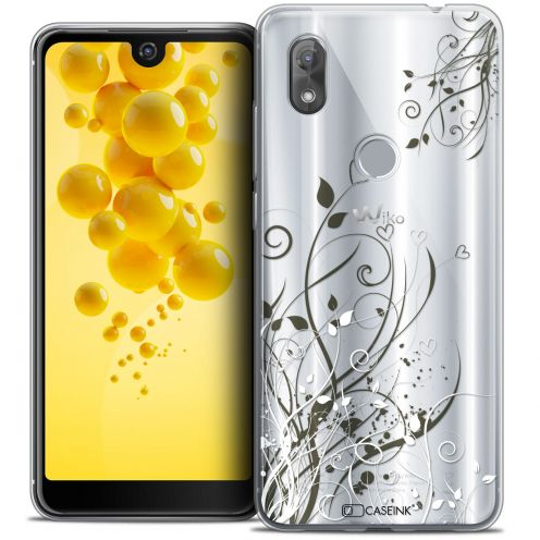 "Extra Slim Crystal Gel Wiko View 2 (6.0"") Case Love Hearts Flowers"