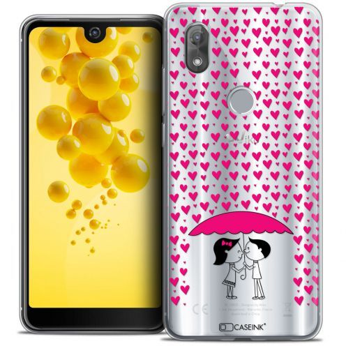 "Extra Slim Crystal Gel Wiko View 2 (6.0"") Case Love Pluie d'Amour"