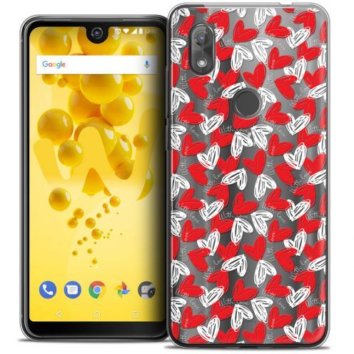 """Extra Slim Crystal Gel Wiko View 2 (6.0"""") Case Love With Love"""