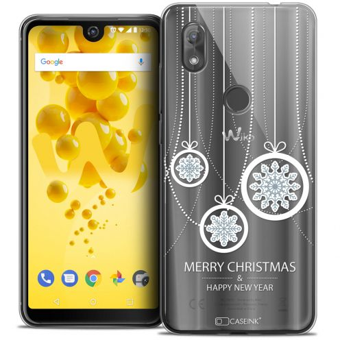 "Extra Slim Crystal Gel Wiko View 2 (6.0"") Case Noël 2017 Christmas Balls"