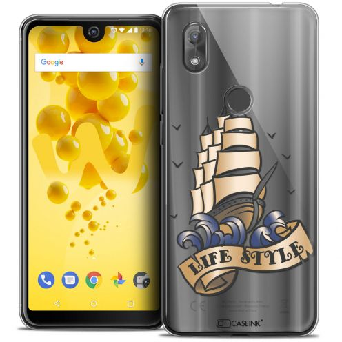 "Extra Slim Crystal Gel Wiko View 2 (6.0"") Case Tatoo Lover Life Style"