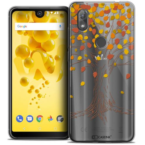 """Extra Slim Crystal Gel Wiko View 2 (6.0"""") Case Autumn 16 Tree"""
