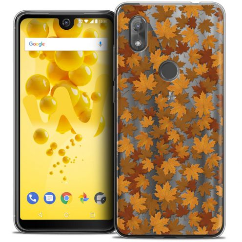 "Extra Slim Crystal Gel Wiko View 2 (6.0"") Case Autumn 16 Feuilles"