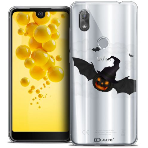 "Extra Slim Crystal Gel Wiko View 2 (6.0"") Case Halloween Chauve Citrouille"