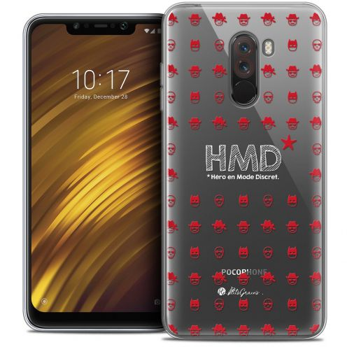 "Extra Slim Crystal Gel Xiaomi Pocophone F1 (6.18"") Case Petits Grains® HMD* Hero en Mode Discret"