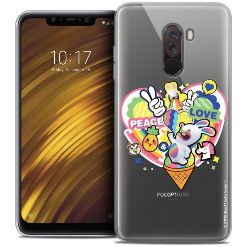 "Crystal Gel Xiaomi Pocophone F1 (6.18"") Case Lapins Crétins™ Peace And Love"