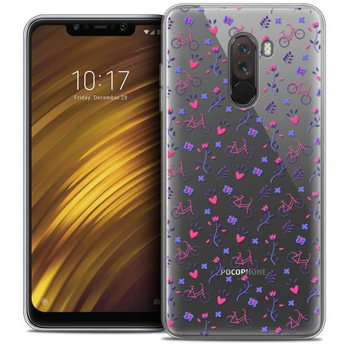 "Extra Slim Crystal Gel Xiaomi Pocophone F1 (6.18"") Case Love Bicycle"