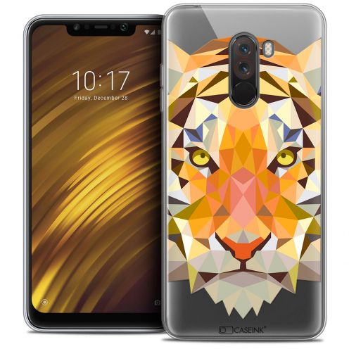 "Extra Slim Crystal Gel Xiaomi Pocophone F1 (6.18"") Case Polygon Animals Tiger"