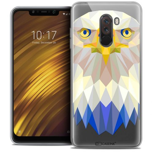 "Extra Slim Crystal Gel Xiaomi Pocophone F1 (6.18"") Case Polygon Animals Eagle"